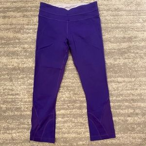 Lululemon Cropped Purple Leggings